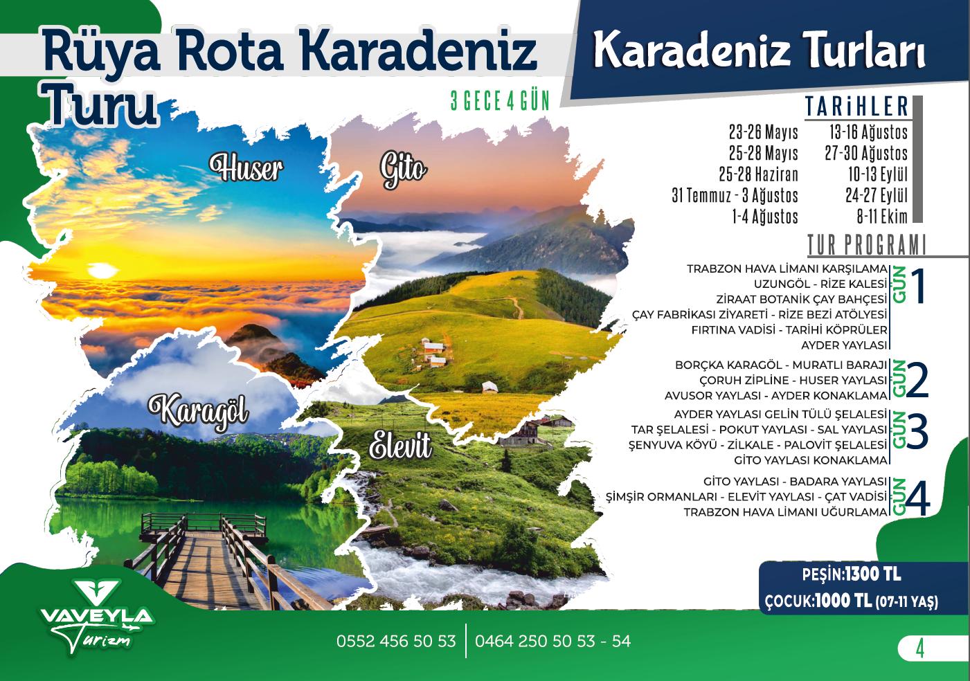 Rüya Rota Karadeniz Turu