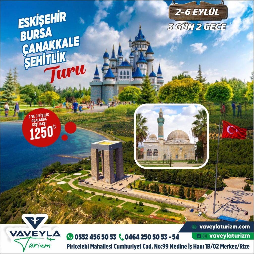 Eskişehir-Bursa-Çanakkale Turu